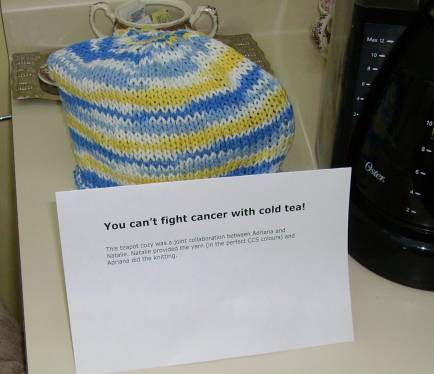 cancer tea cozy