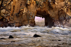 Big Sur - Portal of the Sun (PatrickSmithPhotography) Tags: ocean california travel sunset sea wallpaper vacation seascape landscape surf arch seascapes bigsur wave carmel bec pfeiffer naturesbest californiacoast pfeifferbeach seaarch tafoni oceanviews bigsurcoast landscapephotography juliapfeiffer topf1000 pfeifferstatebeach seascapephotography photocontesttnc09 obramaestra bestwishestnc09
