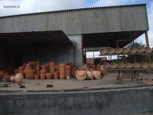O sol de Portugal permite secar os objectos de argila