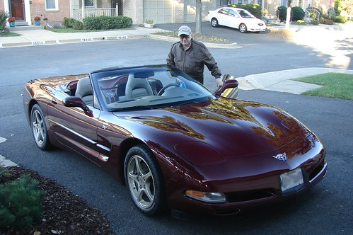 Dad and his Corvette