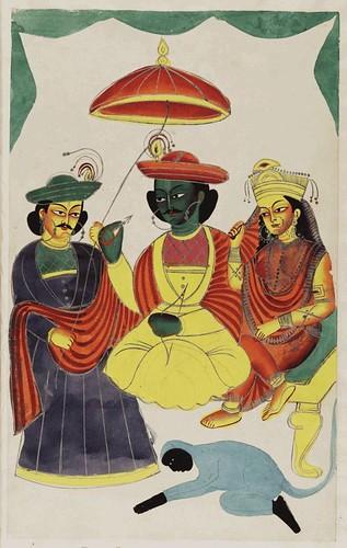 005- Rama y Sita entronizados