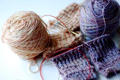tangled mess of mystery socks