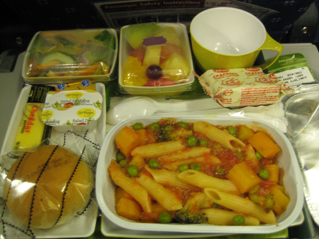 Ethiopian Airlines Veg Meal
