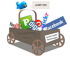 Jump on the social media bandwagon (Matt Hamm) Tags: illustration media flickr social delicious bandwagon facebook bebo digg socialmedia youtube twitter pownce