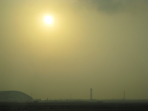 Sunrise over Doha airport