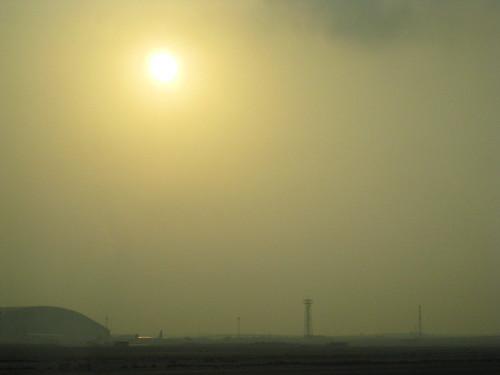 Sunrise over Doha airport