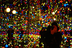 the gleaming lights of the souls #2 (einsteinsmonster) Tags: selfportrait art liverpool 50mm lights nikon room mirrors biennial 08 capitalofculture d40 50mmaff18d einsteinsmonster yayoikusma