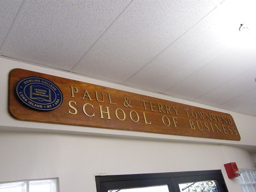 Townsend School of Business sIgn