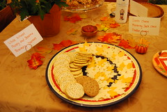 Crackers and cheese tray