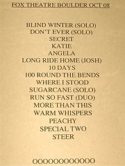 Missy Higgins set list