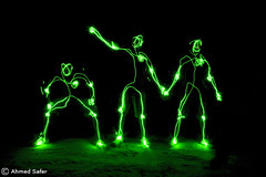 Lighto-Skeleton (Ahmed-ID) Tags: light people green art night canon pose skeleton sketch energy long exposure pointer id mohammed laser kuwait draw 1ds ahmed multi safer jeudelumiere lightoskeleton khuwaisat
