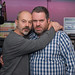 Keith Allen with Chris Moyles