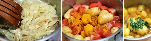 Tajine de patates au safran & à la coriandre