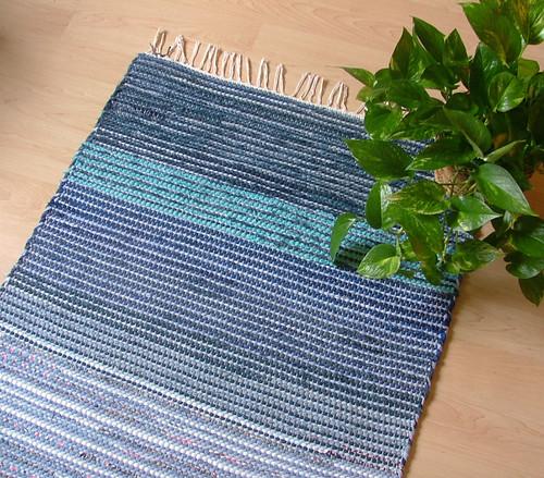 LAKESIDE BLUE -- Hand-woven rug
