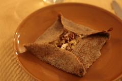 Galette au camembert et noix