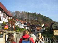 People starting to hike up to Bastei (nkrgupta) Tags: germany dresden hiking elbe schsischeschweiz rathen basteirock