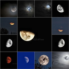 Many Moons (BluAlien) Tags: sky moon night nikon mosaic luna collection nite d300 d40 70300mmvr 55200mmvr