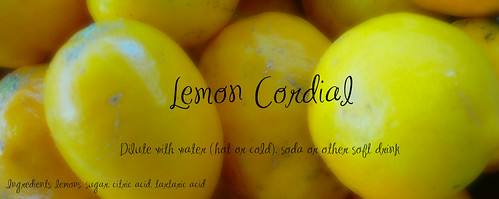 Lemon Cordial Label