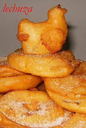 Buñuelos manzana-gallinita