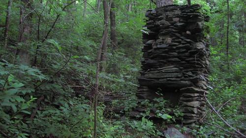An Abandoned Stone Chimney