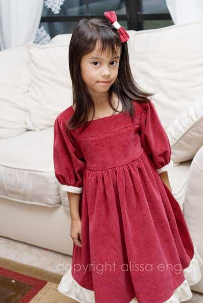 dress #1 made.