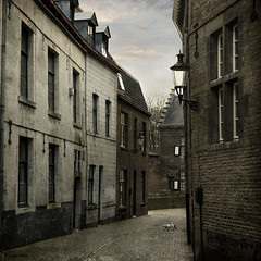 (moggierocket) Tags: street houses netherlands cat maastricht ancient cobblestones oldtown narrow 500x500 thelitttledoglaughed winner500 thecatwhoturnedonandoff itgetssodarksoearlythistimeofyear anotheroldpartoftown