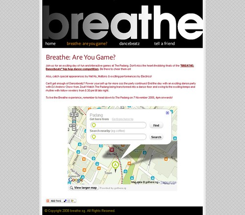 Breathe.sg - Inner Page
