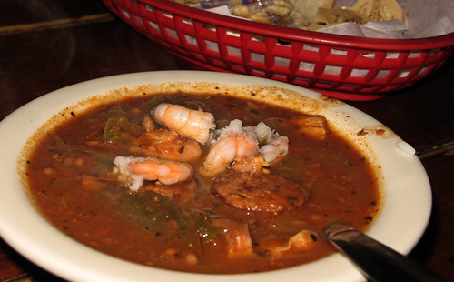 Chicken, sausage & shrimp  gumbo at Liuzza's by the Track