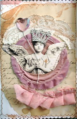 Queen of Hearts.. (fleamarketstudio) Tags: art collage vintage scrapbooking valentine collageart valentinesday artjournal alteredart shabbychic mixedmediaart valentineart valentinesdayart