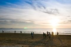 Ballgame on the beach at sunset (1davidstella) Tags: sunset beach dusk best kotakinabalu soe tanjungarubeach otw flickrific mycameraneverlies thatsclassy platinumheartaward theperfectphotographer specialpictures