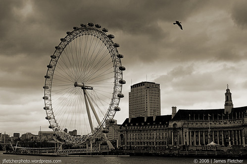 London Eye Sepia