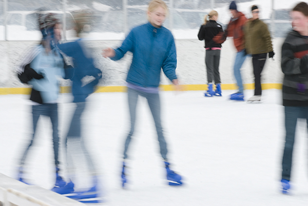 at the ice rink