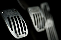 Clutch (DodogoeSLR) Tags: cars car metal nikon aluminum dof bokeh rubber gas explore negativespace brake pedals clutch petrol tuner gasoline beamer nikkor stickshift bimmer aftermarket basmati acschnitzer bmw3series 60mmf28 macromonday beautyineverydaylife