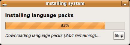 Installing language packs