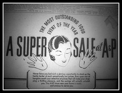 A Super Sale! (neshachan) Tags: 1932 newspaper ad ephemera advertisement ap microfilm headsinspace