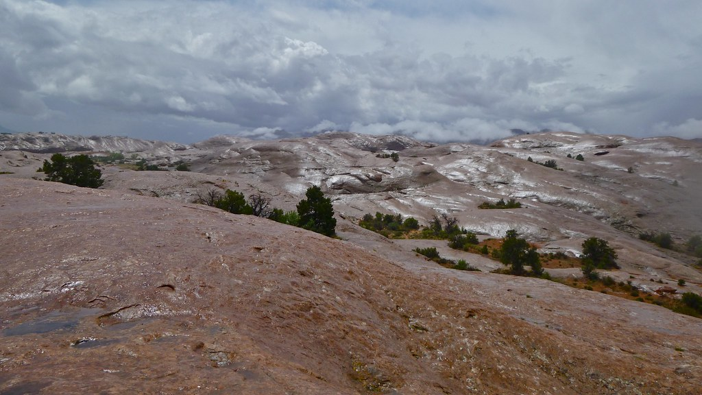 "very ""slippery"" Slickrock trail"