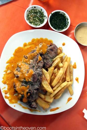 Alpaca in Rocoto Sauce with Papas Fritas