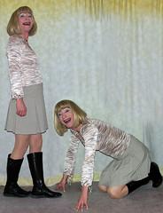 sub or dom? (gillian .) Tags: boots dom feminine sub blouse transgender mature tranny blonde transvestite miniskirt crossdresser