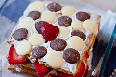 Icebox Cake w/ Chocolate Wafers (Elsbro) Tags: dessert strawberries grahamcrackers iceboxcake chocolatewafers coconutwhippedcream
