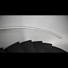 Saw (Maerten Prins) Tags: barcelona shadow white black wall stairs spiral spain steps staircase curl railing macba fmn270511