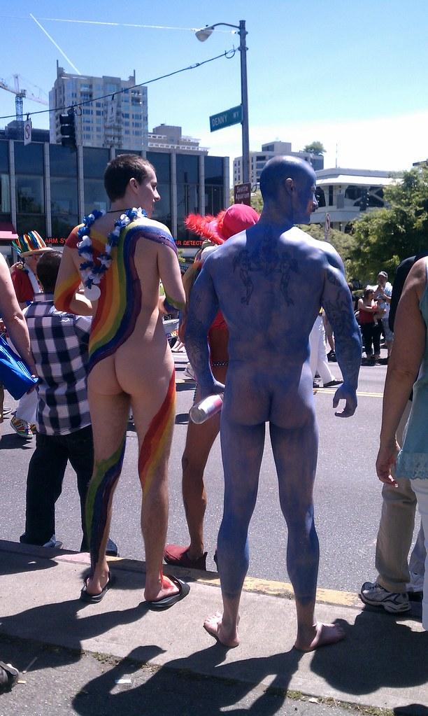 Nude men parade