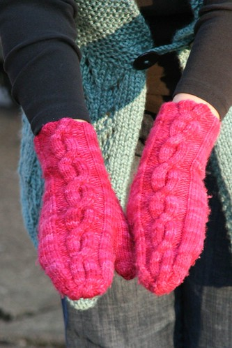 Mod Cables Mittens