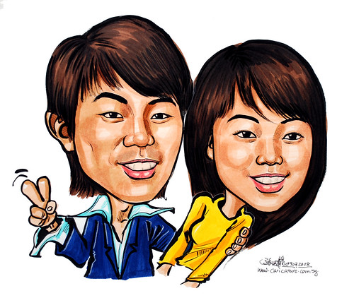 Caricatures couple 090308