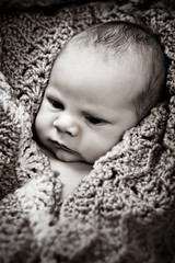Great Grandma's Blanket (jrobfoto.com) Tags: baby studio naked ben flash blanket 5d alienbee soe 2470 jonathanrobsonphotographycom