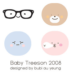 Baby Treeson 2008 (Bubi Au Yeung) Tags: new sleeping baby hot bag design sketch faces drink chocolate bubi au pouch portfolio outline 2008 yeung illustraton crazylabel treeson
