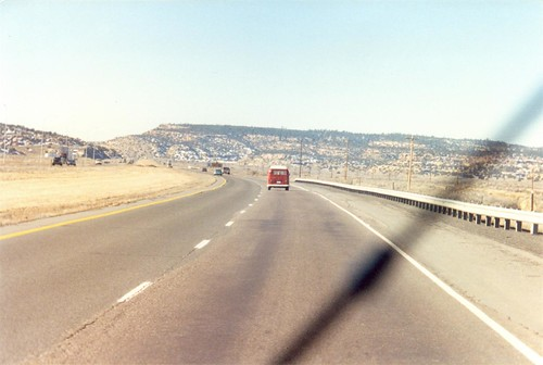 I-40 in Northern Arizona in my 67 VW bus, early Feb 1995