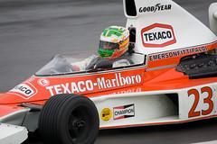 McLaren M23 (GT Photographic) Tags: cars emerson racing mclaren marlboro texaco motorsport brandshatch joachin m23 fittipaldi folch historicmasters