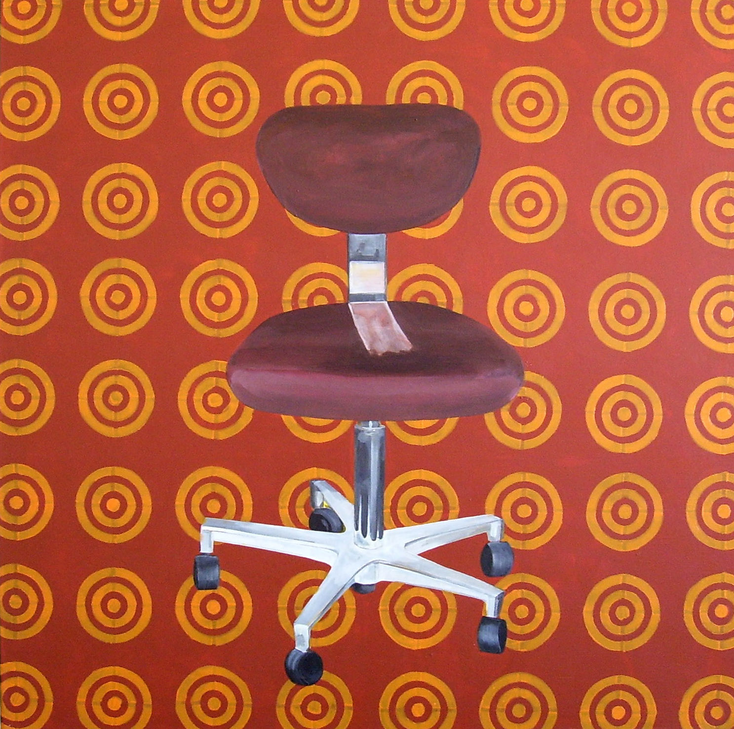 Brown on Brown, Acrylic on Canvas, 76cm x 76cm by Robin Clare