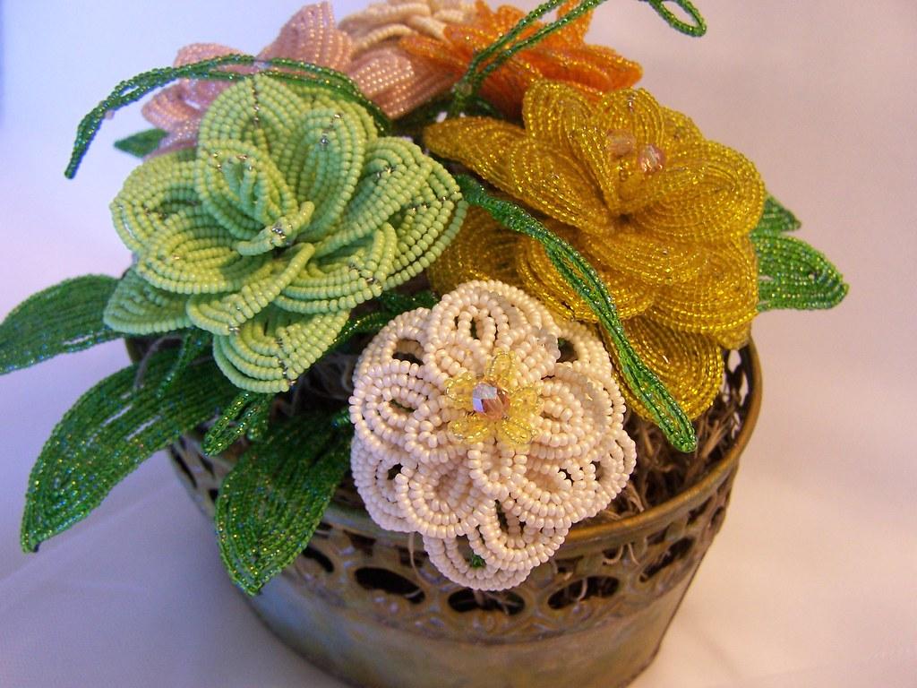 French Beaded Flower Arrangement