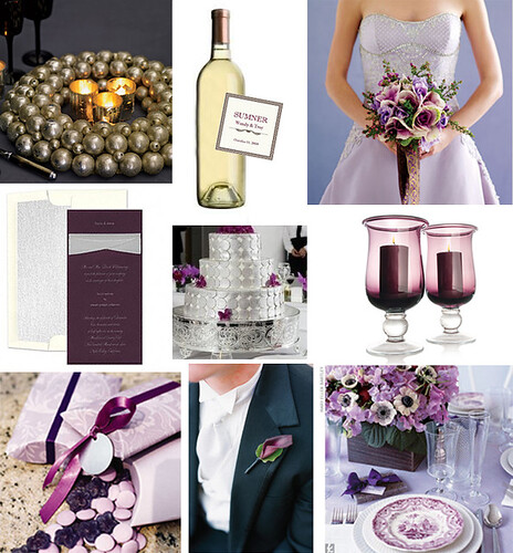 My Wedding Place Purple And Silver Wedding